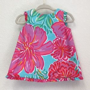 Lilly Pulitzer Shorely Blue Bellina infant dress